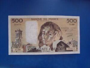 500   FRANCS   PASCAL  1989   R 289