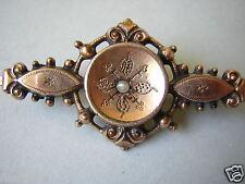 Antike Biedermeier Schaumgold Brosche mit Saatperle Antikschmuck 2,7 g