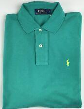 Ralph Lauren Hommes manches longues Vert Jade Chemise Polo Coupe Classique  Petit aa0700b6570e