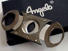 Angelo Zigarrencutter Doppelklingen Cutter Zigarrenschneider Metall anthrazit