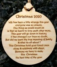 Large Christmas Bauble with 2020 Message