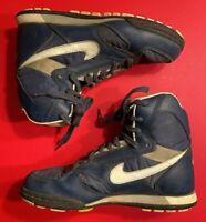 GREG VAUGN MILWAUKEE BREWERS Game Used Shoes MLB Baseball Vtg NIKE Turf High Top