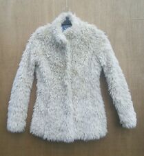 Next size 6 cream very furry! fake fur jacket