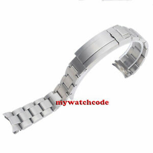 brushed 21.3mm 316L stainless steel solid bliger bracelet fit 43mm SUB watch