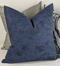 """John Lewis Textured Chenille Blue Cushion Cover Double Sided. 18""""x18"""""""