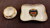 2 Vintage Limoges Trinket Ring Dishes Gold Rims