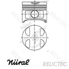Piston With Rings MB:W210,W202,S202,C,E