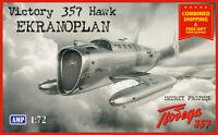 AMP 72-010 - 1/72 - Victory 357 Hawk. Prototype aircraft Scale plastic model UK