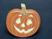 "1992 Jack'O'Lantern Pumpkin Decor ""Tender Heart Treasures"" Taiwan 6.5"" Tall VG"