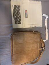 Vintage Apple II  Plus computer in original apple leather bag