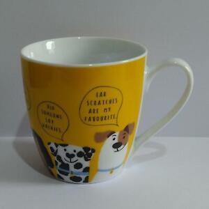 Dog Design Mug - Large Yellow Mug - Dog Thought Bubbles - from Tescos - Plse Rd