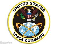 """UNITED STATES SPACE COMMAND 4"""" TOOL BOX HELMET BUMPER STICKER DECAL MADE IN USA"""