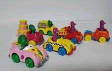 Vintage 1993 (6) Barney Baby Bop Metal Diecast Cars Lot Lyons