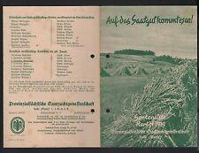 HALLE/SAALE, Prospekt 1939, Provinzialsächsische Saatzuchtgenossenschaft eGmbH