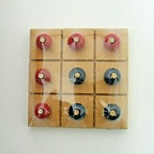 Tic Tac Toe Board Game Wooden Hand Painted By The Pinecrafter Toys