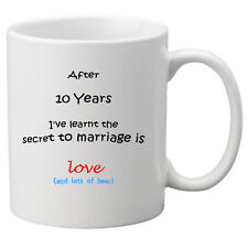 The Secret to Marriage Mug (10th Year) Perfect Gift for 10th Wedding anniversary