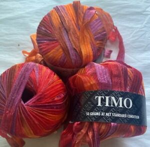 Filatura Di Crosa Timo 66 Yards Polyamide Orange Pink Violet Yarn Made in Italy