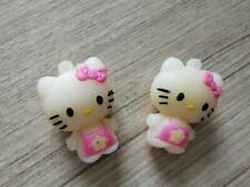 2 PC Miniature Pink Hello Kitty Plastic Rubber Doll key chain or mobile strap