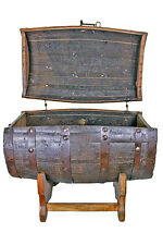 Whiskey Barrel With Storage - Trunk Style - Mancave - Bar - Cooler - Ice Chest -