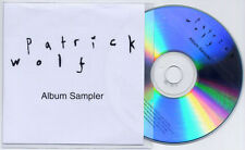 PATRICK WOLF Lupercalia Album Sampler UK 6-trk numbered promo test CD