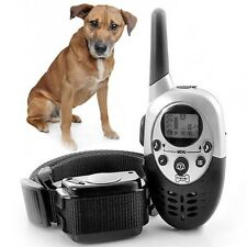 1000M Rechargeable Waterproof LCD Shock Remote Dog Training Collar w/ Backlit