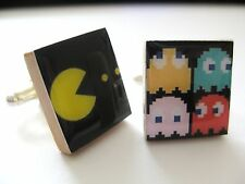 Pac-man Cuff Links Retro Gaming Pac Man Handmade cufflinks Unique gift Pac Man