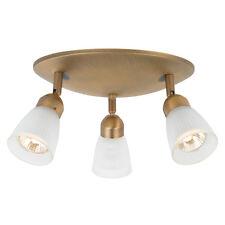 """Antique Brass Adjustable 3 Light Spot Ceiling Fixture 9.84"""""""