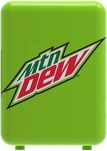 Mtn Dew 6 Can Cooler/Mini Fridge Office Personal Mountain Green Rare Plug In New