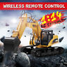 US 1/14 RC Metal Excavator 15 Channels Remote Control Construction Bulldozer Toy