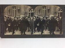 WWI Stereoview VERSAILLES TREATY Woodrow WILSON France KEYSTONE 18781