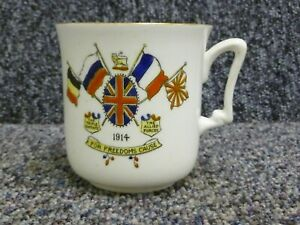 1914 ww1 China Mug The Triple Entente The Allied Forces Sutherland Art China
