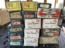 16 Boxes of  Washer Grommets, Toggle Bolts, Anchors and other types of fasteners