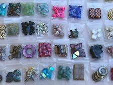 Huge Lot Of Mixed Assorted Beads Jewelry Craft Making Supplies 50 Bags over 1 lb