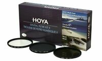 Hoya 46mm Digital Filter Kit II - Slim UV, Cir-PL, ND8 Filters & Case HK-DG46-II