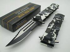 Tac Force TF-710 LinerLock Belt Clip Sawback Tactical Camo Assist Rescue Knife