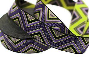 10 yard 25 mm  Chevron Jacquard ribbon, Elegance Decorative ribbon, Craft Ribbon