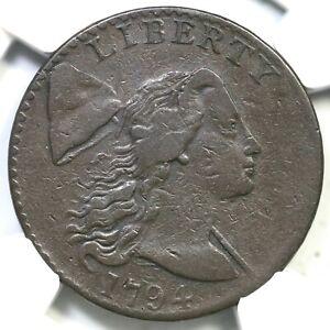 1794 S-41 NGC VF 20 Liberty Cap Large Cent Coin 1c