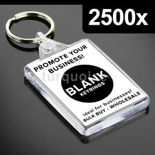 2500x Premium Quality Clear Acrylic Blank Photo Keyrings Key Fobs 50 x 35 mm