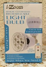 I-Zoom Rechargeable Light Bulb, Emergency, Flashlight, Remote Control