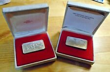 New Listing(2 Lot) Sterling Silver - Franklin Mint Christmas Bullion Ingot Bars - Each 67g
