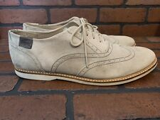 Lacoste Sherbrooke Brogue 2 Oxford Wingtip Beige Suede Size 12