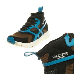 RRP €735 VALENTINO GARAVANI Sneakers EU 41 UK 7 US 8 Knitted Rockstuds Logo