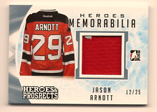 JASON ARNOTT 2016-17 LEAF ITG HEROES & PROSPECTS GAME USED JERSEY RELIC /25