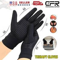 Copper Compression Arthritis Gloves Finger Fit Carpal Tunnel Typing Support Hand