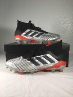 Adidas Men's Size 9.5 Predator 19.1 Silver Soccer Cleats
