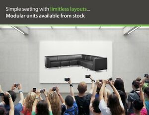 Modular Black Faux Leather Office Reception Seating FAST DELIVERY in Stock