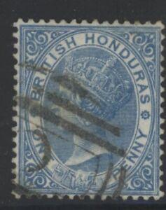 British Honduras Queen Victoria 1d blue stamp (SG12) dated 1872-79