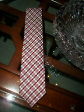 new TOM FORD burgundy checked silk / wool power neck tie Italy $250 Neiman