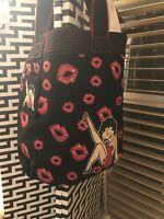Betty Boop hand/ shoulder tote bag Black