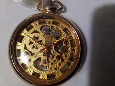 Orologio da tasca dorato scheletrato squelette pocket watch skeleton very nice